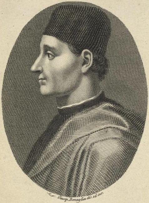 Luigi Pulci ritratto Giuseppe Benaglia