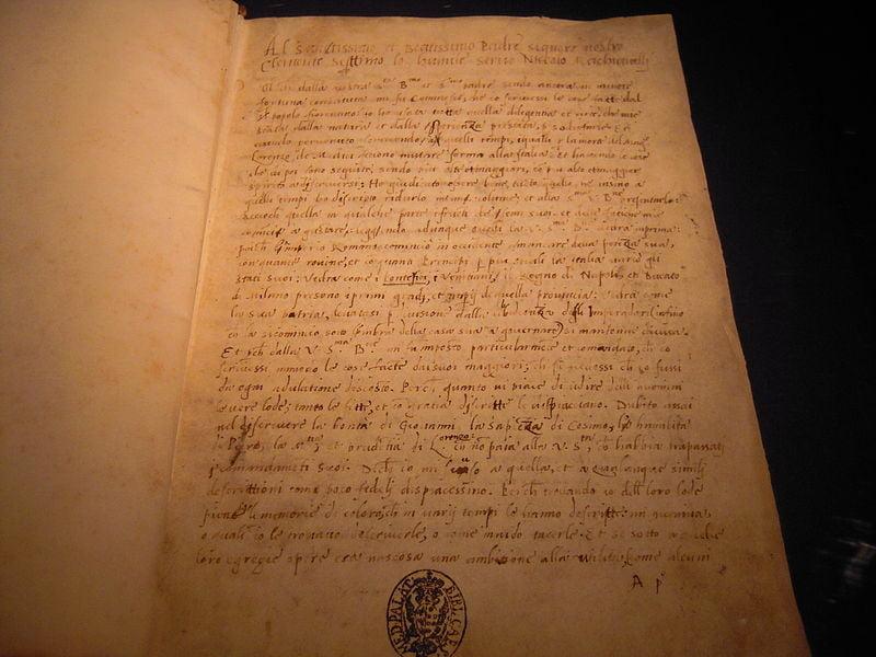 istorie fiorentine autografo machiavelli
